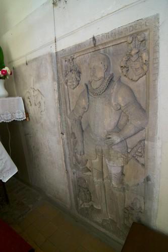 Epitafia w południowej ścianie kaplicy Maltzanów w kościele św. Jana Ewangelisty w Paczkowie