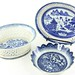 1022. Three Chinese Porcelain Canton Pieces