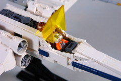 [SW] Incom T-65 X-wing - Cockpit detail (Sydag) Tags: starwars lego space scifi xwing moc starfighter rogueleader incomt65