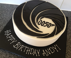 Bond Theme 50th Cake