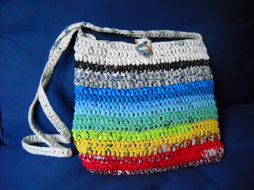 plastic bag yarn crochet bag