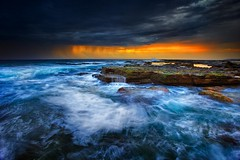 Summer Storm (Noval N | Photography) Tags: ocean morning seascape beach clouds sunrise landscape rocks sydney australia nsw