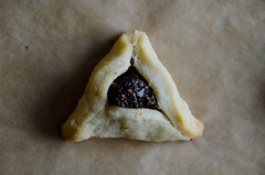 just call it a triangular fig newton! (sassyradish) Tags: cooking baking fig purim jewish kosher dairy sassyradish hamantaschen