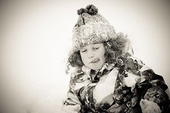 Licking the Snow (LionEyes Photography) Tags: winter blackandwhite snow playing cold girl fun kid child play littlegirl blizzard licking eatingsnow thepinnaclehof connecticutblizzard transcendingwinner blizzardnemo blizzard2013 pinn0613 tphofweek206