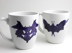 Rorschach Coffee Mugs (lltownley) Tags: blackandwhite cup kitchen coffee coffeecup rorschach science doctor mug medicine coffeemug etsy inkblot freud psychology psychiatrist