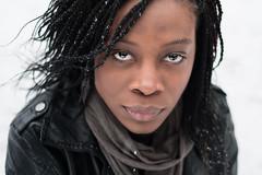 Jenny ... (Tony N.) Tags: portrait snow jenny neige glance regard cuir nikkor50mm18 ledder idontlikesnow d300s jenaimepaslaneige
