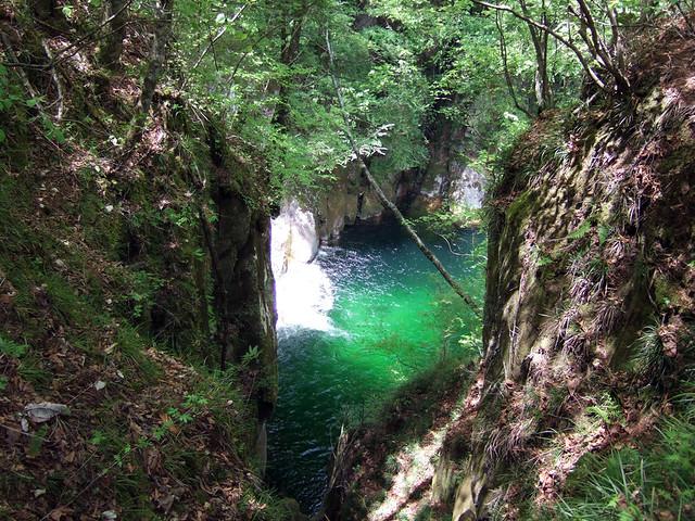 尾白川渓谷3つ目の見どころスポット、百合ヶ淵です。|尾白川渓谷