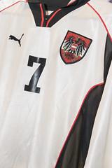 Mario Haas' Originaltrikot der österreichischen Nationalmannschaft