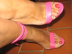 Sara's long toenails at their best (al_garcia) Tags: high shoes toes long sandals sweaty nails clogs heel rough mules soles toering smelly toenails anklets bunions creaked calloused