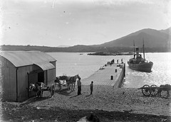 When the boat comes in... (National Library of Ireland on The Commons) Tags: ireland horses cars pier cork steamship 20thcentury steamer bantry munster bollards glassnegative westcork nationallibraryofireland adrigole fergusoconnor fergusoconnorcollection ssbettybalfour ssladybettybalfour bantrybaysteamshipco eugenedunne