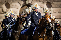 The kings men II (Jens Sderblom) Tags: horses horse sweden stockholm military guard royal rifles mounted soldiers sverige scandinavia swords hst hstar gustavadolfstorg d7000 beridnahgvakten statsbesk