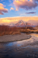 Morning Whispers (Willie Huang Photo) Tags: california winter mountains nature sunrise river landscape scenic sierras sierranevada bishop owens mttom easternsierra owensriver