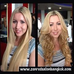 ทรีตเมนท์ผม qod Brazilian keratin แบบทรงผม#ดัดผมดิจิตอล#ทำสีผม#zenredsalon #thailand#bkk#bangkok#instapic #instaday #thaiflag #thai #hair #blonde hair color#blonde hairstyle
