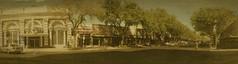 Panorama: Central Avenue, St. Petersburg, FL (Michael Coyne) Tags: city panorama vintage stpetersburg restaurant tampabay florida panoramic palm historic storefront pinellas postprocessing ipad iphoneography
