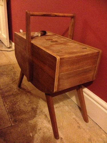 Mid-century sewing box