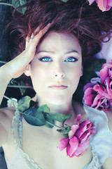 Flora (Alessia.Izzo) Tags: blue roses portrait girl face fashion rose eyes flora romantic martina alessia sacchetti izzo