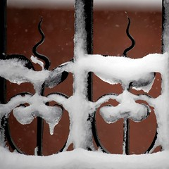 Cold hard iorn (mortnoir) Tags: snow cold ice spring gate iorn uploaded:by=flickrmobile flickriosapp:filter=nofilter