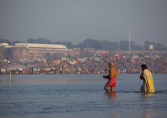 Pilgrims Bathing In Ganges, Maha Kumbh Mela, Allahabad, India (Eric Lafforgue) Tags: travel people india tourism water festival river walking outdoors photography togetherness bath asia day religion crowd bank celebration event spirituality copyspace bathing riverbank hinduism pure pilgrimage religiouscelebration pilgrim traditionalculture sangam humaninterest allahabad socialgathering haridwar purification gangesriver yamunariver uttarpradesh realpeople kumbhmela traveldestinations colorimage indianculture fulllenght uttarakhand 6189 largegroupofpeople indiansubcontinent celebrationevent traditionalceremony indianethnicity