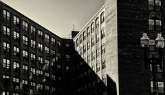 Sun on Repurposed Factory Building_ (PAJ880) Tags: bw ma downtown factory lynn repurposed