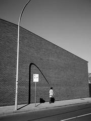 point (lonely radio) Tags: people signs brick film mediumformat shadows australia melbourne brunswick victoria arrows poles walls 2p pointing 6x45 whitelines kodaktmax100 nostanding pc3056 auspctagged superebcfujinon60mmf4 fuijga645i scansf20130329ga645itmax10008