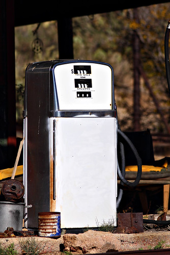 Lone White Gas Pump in Chloride, Arizona