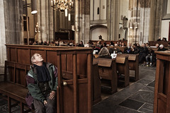 Easter, Utrecht. (Pim Geerts) Tags: street people man church canon easter photography eos utrecht cross cathedral prayer religion praying nederland christian believe service domkerk mis pasen gebed jezus banken dienst kruis 1635mm bidden straatfotografie paasdag bisdom gelovigen beleidenis 5dm2 geloofsbeleidenis
