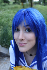Konata Cosplay Lucky Star (Hekady) Tags: blue cosplay luckystar konata hekady