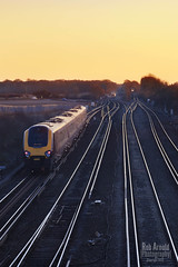 Journey into the Sunset (robarnold_) Tags: sunset train cross dusk country railway trains hampshire junction bournemouth basingstoke mancester worting