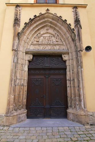 Portal zachodni kościoła Najświętszego Zbawiciela Świata i MB Szkaplerzowej w Strzegomiu