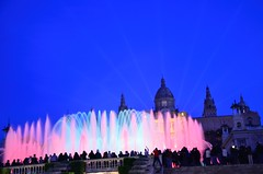 Fonts de Montjuic. Barcelona (6).- (ancama_99(toni)) Tags: barcelona blue light espaa water azul lights spain nikon catalonia catalunya fountains blau fonts montjuic 18105 azl 10favs 10faves 2013 mywinners d7000