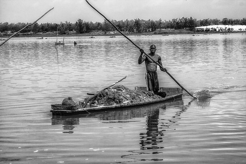 Lac Rose, Senegal in black and white