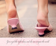 Click Clock Shoes (Anna Hwatz Photography) Tags: pink cute shoes sweet frombehind heels groundlevel odc2 littlegirlsshoes differentorunusualpov