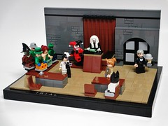 Trial (Julius No) Tags: lego harley batman quinn judge joker series animated trial scarface twoface