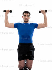 man weight training Worrkout Posture (Franck Camhi) Tags: people white man france male sports training cutout pose person one 1 exercise fulllength bodybuilding whitebackground studioshot posture weightlifting bodybuilder workout fitness kneeling position oneperson weights aerobics positions caucasian dumbbells oneman weighttraining exercising lookingatcamera