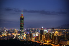 101 (Greg - AdventuresofaGoodMan.com) Tags: city longexposure urban building skyline architecture skyscraper lights taiwan 101 taipei taipei101 elephantrock elephantmountain elephantmountaintrail taipeiskyline