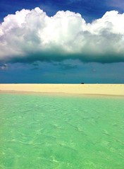 Unforgettable layers in Paradise (_Paula AnDDrade) Tags: ocean travel blue sea sky praia beach azul clouds painting island photography mar paradise honeymoon nuvens caribbean ilha inspiring viajem turksandcaicos tci caribe iphone