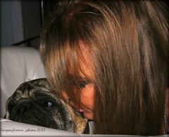 A kiss on the cheek xx  :) (GIORGINOFOREVER**) Tags: boy love kiss pug mum amore bacio carlino aprillove