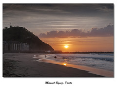 La Zurriola - San Sebastián (Galería de Manuel Rguez. Prieto) Tags: naturaleza nature atardecer nikon surf playa sansebastian donostia puestadelsol paseonuevo urgul