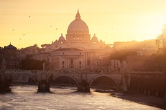 The Vatican, Rome (Beboy_photographies) Tags: sunset vatican rome river san cathedral pietro