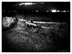 The Walk (roddersdad) Tags: signs fence lincolnshire april gainsborough 2013 blackwhitepictures ricohcameras wwwimagesbyclivecouk copyrightclivejmaclennan ricohgrd4 cliveg1hkfeclipsecouk