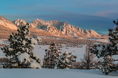 Luminous (Bill Bowman) Tags: sunrise colorado day teal boulder flatirons greenmountain springstorm numbhands pwwinter pwpartlycloudy
