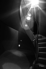 under the light (Jack from Paris) Tags: leica light bw paris stairs angle noiretblanc lumire wide rangefinder jour flare monochrom capture mode contre lightroom escaliers stairways marches rampe m82 dng 10711 nx2 tlmtrique voigtlandercolorskopar21mmf4 l1002146bw