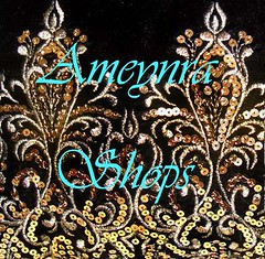 Ameynra shops promotional pic (Sofia Metal Queen) Tags: ameynra awesome artwork ameynrafashion beadwork sequined logo design shop shopping store promotion