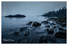 Summer Blues (Michelle Coleman) Tags: baxtersharbour ocean novascotia landscape canon 5d mark iii bay fundy blue hour rocks tides fog