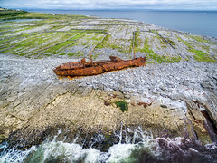 The Plassey Shipwreck - Inisheer - Aran Islands (Gareth Wray - 9 Million Views - Thank You) Tags: boat dji phantom 3 drone aerial ship wreck stranded plassey plassy aran arann island islands inisheer inis oirr craggy father ted famous attraction galway abandoned strand vessel fishing bay beach ocean sea landscape seascape monument landmark tourist tourism wild way tourists historic history visit ireland irish gareth wray photography strabane hd fox hdfox direct sun sand atlantic water vacation sunset burren