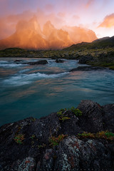 Tensin (LFelipe_P) Tags: chile landscape ngc torresdelpaine cuernos dawn lights river patagonia mountain