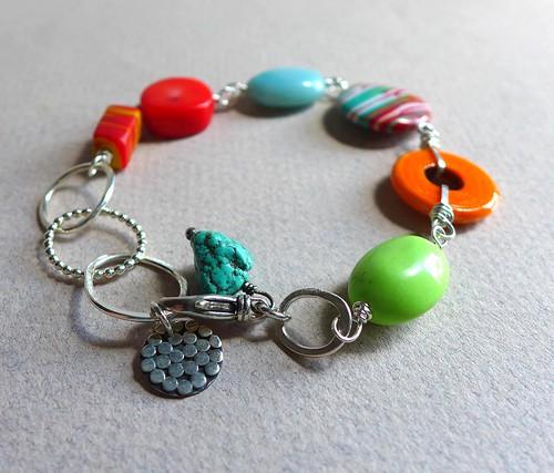 Colorful Gemstone Bead Bracelet