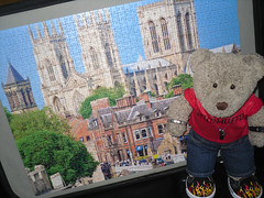 A big church! (pefkosmad) Tags: jigsaw puzzle hobby pastime leisure incomplete onepiecemissing 1000pieces yorkminster photograph photo falcon