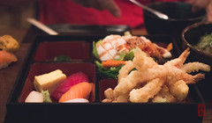 Bento box (luyaozers) Tags: nyc manhattan japanese yummy food explore cuisine restaurant seafood sashimi sushi egg fish shrimp tempura bento box