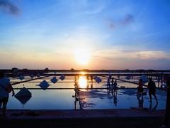 Salt Field Sunset (Vina Chen) Tags: aroundtaiwan taiwan tainan salt saltpan saltfield sunset silhouette